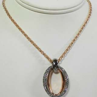 Swarovski Circlet Pendant Rose Gold # 5142818, with box (rrpHK$1200)