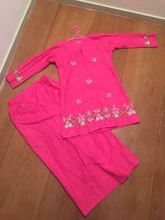 Pink Baju Kurung for girls