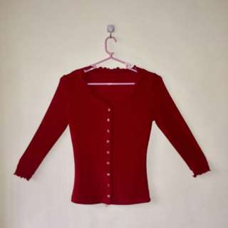Red pull over