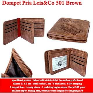 Dompet Murah Pria Leis&Co  Kulit 501 BROWN