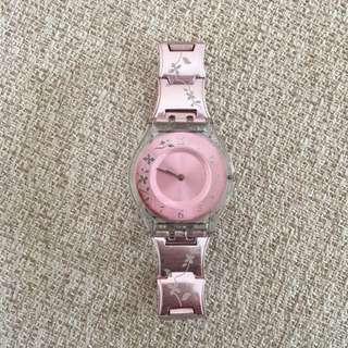 Jam Tangan Swatch Pink Floral