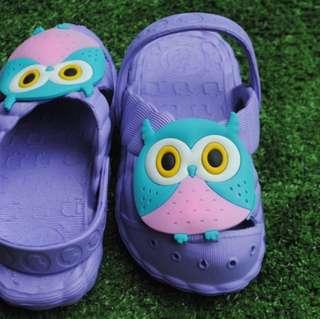 sendal slop owl kids