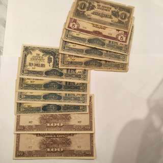 Old Japanese note  11cs sale $30