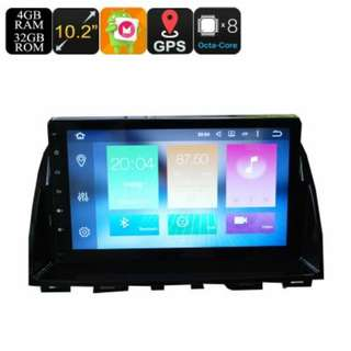 2 Din Car Media Player For Mazda 6 - 10.2 Inch Screen, 4+32GB, Octa-Core, 3G, 4G, Android 6.0, Bluetooth, GPS, Wi-FI (CVAIO-C589)
