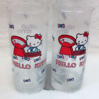 2 in 1 Printed Hello Kitty Drinking Glass