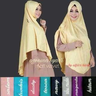 ALF - 0218 - Kerudung Hijab Instant Ageesna Syari