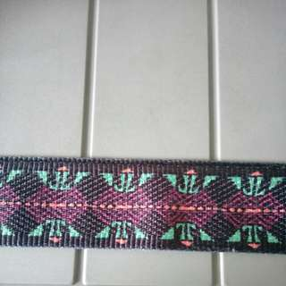 Dark Color with Pattern Fabric Strap