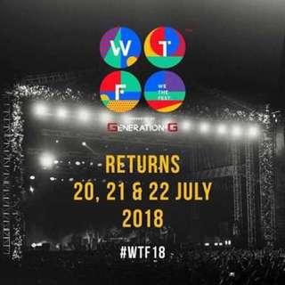Tiket wtf presale 3 days
