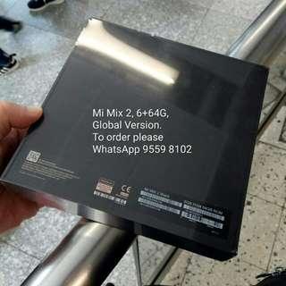 Mi Mix2 All Ceramic Body,Global ROM,6G RAM 64GB ROM