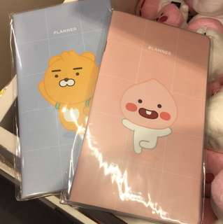 Instock Official Kakao Friends planner book Apeach Ryan