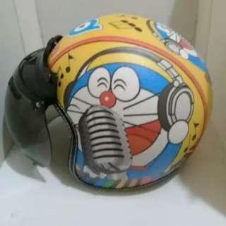 Helmet bogo Doraemon Blue