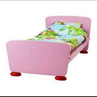 Ikea junior children pink mammut bed frame