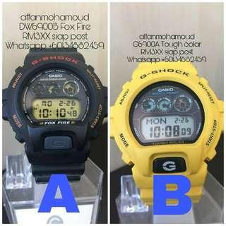 Casio G-Shock DW6900B & G6900A
