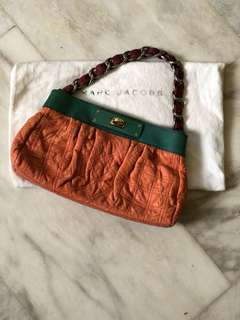 MARC JACOBS Quilted Python Chain Bag
