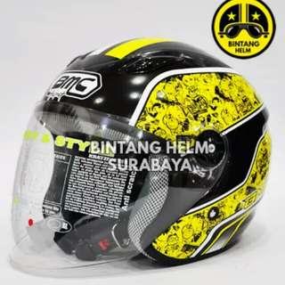 Helmet BMC milan doraemon graffity yellow