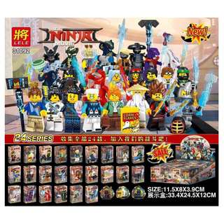 LELE 31092 Ninjago Movie Cms 24in1 Minifigures Set