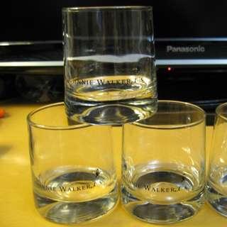 法國製造~JOHNNIE WALKER~~威士忌酒杯$100/3隻