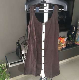 Cococlub brown simple dress