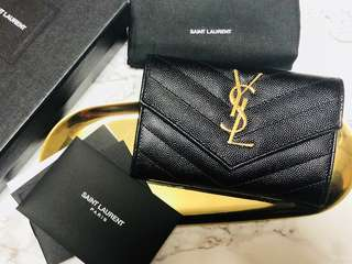 YSL黑金色散子包短銀包card case card holder wallet