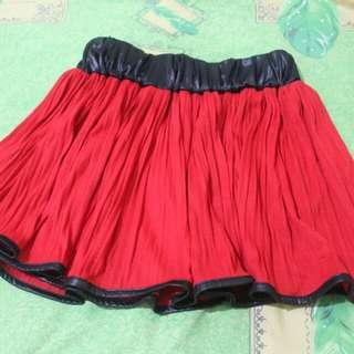 Red Flare Skirt