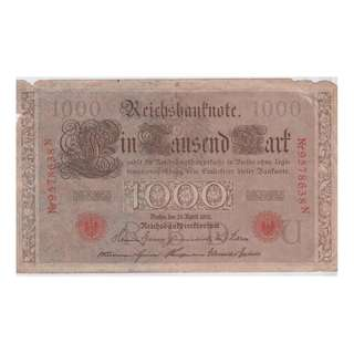 1910 Germany 1000 Mark