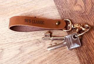 Rust Brown Leather Key Chains