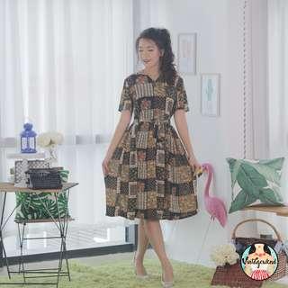 🍿 Vintage Midi Dress VD1092