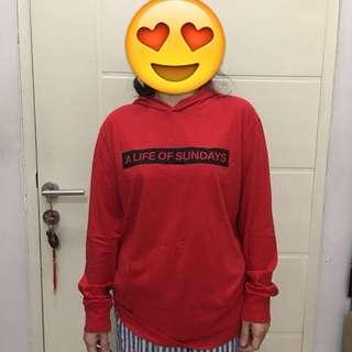 Hoodie Shirt Pria Long Sleeve H&M Size M