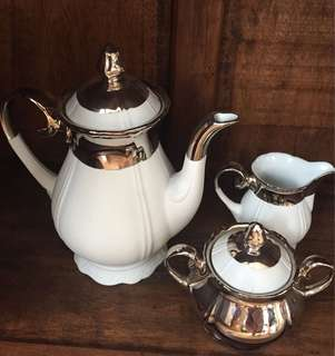 Vintage Tea Set dipped in Platinum!