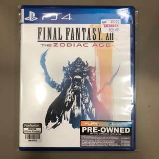 PS4 Preowned Final Fantasy XII The Zodiac Age