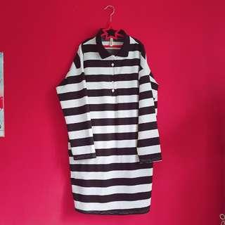[WTS] Black White Stripe one piece retro dress