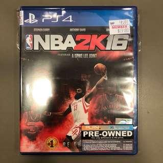 PS4 Preowned NBA2k16