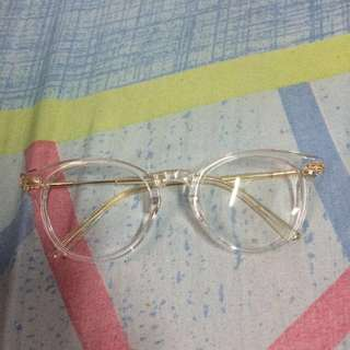 Clear framed Replaceable lens eyeglasses