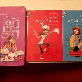 Le journal d'Aurelie Laflamme (French) India Desjardin - Collection of 3 books