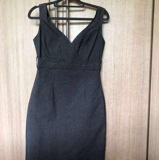 Black /dark grey dress - very Karen Millen looking
