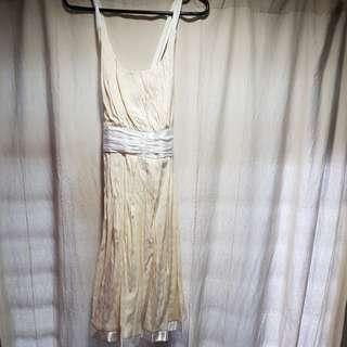 PL Off-White Crossback Dress