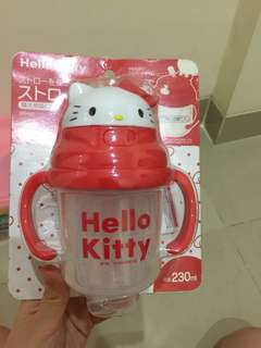 Straw mug ori hello kitty japan