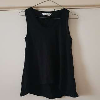 Seed Black Tank Top Size 4/XXS (fits up to 6)