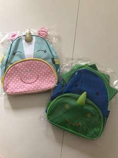 Unicorn and Dinasour kids bag