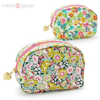 Japan Sanrio Hello Kitty Liberty Print Cosmetic Pouch