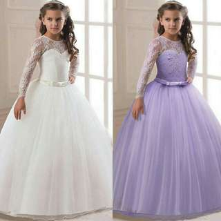 *FREE DELIVERY to WM only / Pre order 15-18 days* Kids dress lace gown each as shown design/color. Free delivery is applied for this item.