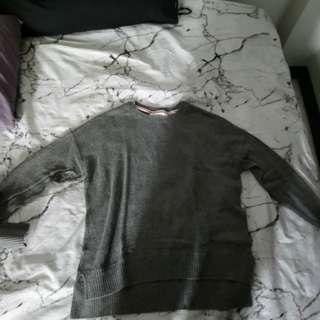 L. O. G. G gray sweater