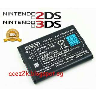[BN] 2DS & 3DS Original Nintendo Rechargeable Battery CTR-003 (Brand New)