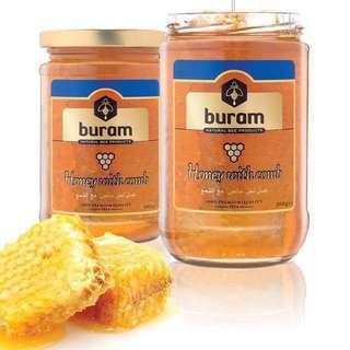 歐洲蜂巢蜜品牌Buram Honey with Comb 500G 蜂巢蜜