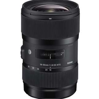 Sigma 18-35mm F1.8 DC Art lenses