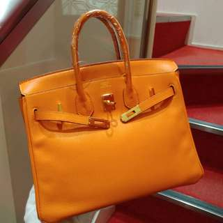 Hermes birkin 25 orange ghw