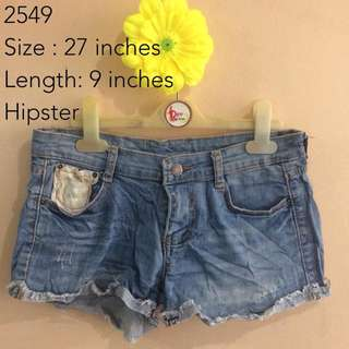 DENIM SHORTS 2549