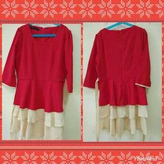 Dress Red Beige size L