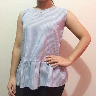 Cute striped sleeveless