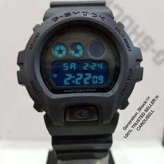 NEW🌟ARRIVAL CASIO GSHOCK DIVER WATCH : 1-YEAR OFFICIAL WARRANTY: 100% Originally Authentic G-SHOCK Resistant in DEEP BLACK with SUPER ILLUMINATOR LIGHT Best For Most Rough Users & Unisex : DW-6900LU-1DR / DW-6900 / DW6900LU / DW6900